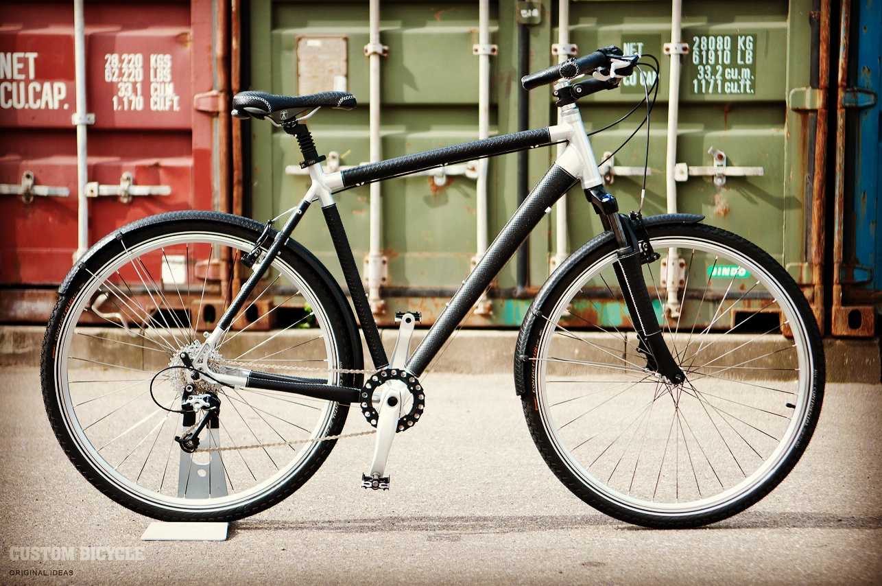 Custom Bicycle - Black and Silver