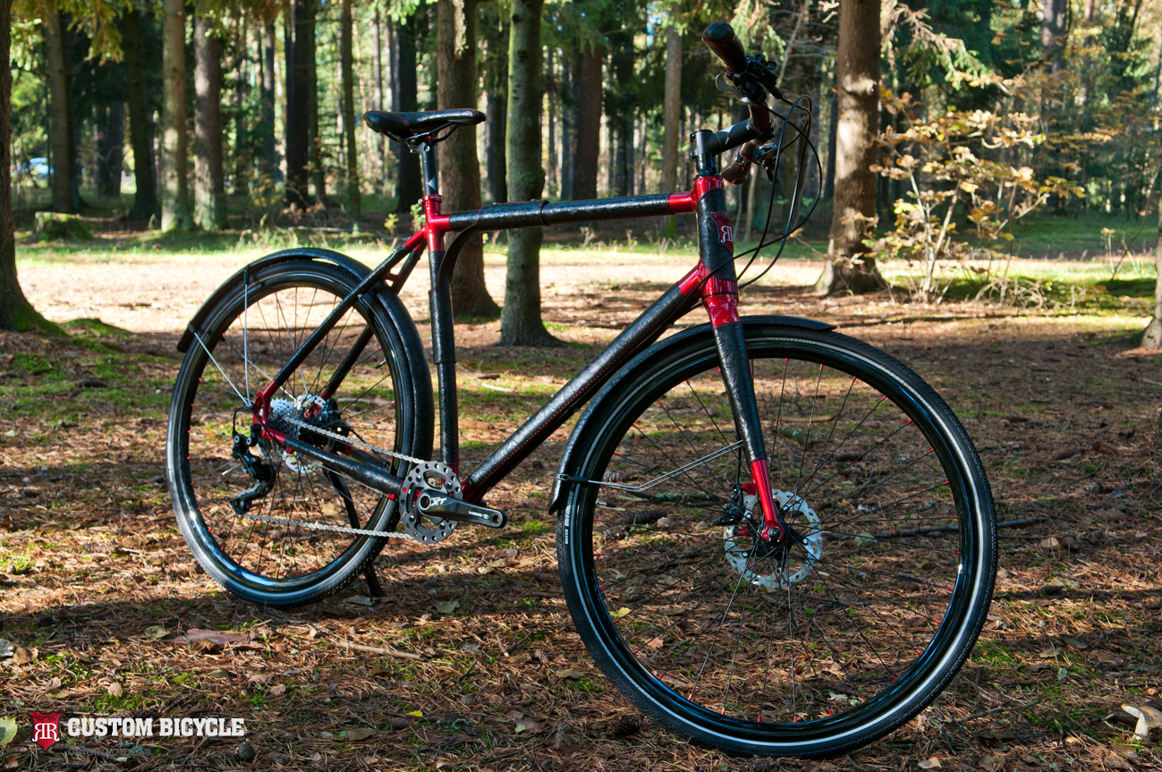 Custom Bicycle - Black and Red - Shimano XT Edition